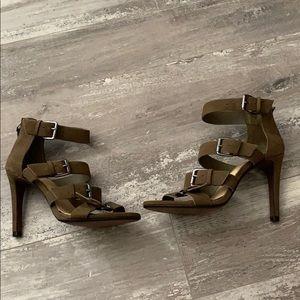 Gianni Bini Olive Buckle Heels 6